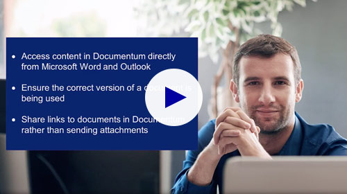 Share Documentum content from Microsoft Word and Outlook