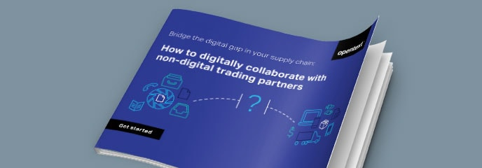 Bridge the Digital Gap in Your Supply Chain: How-To Tips for Digital Collaboration with Non-Digital Trading Partners eBook cover image