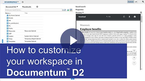 Customize D2 workspaces