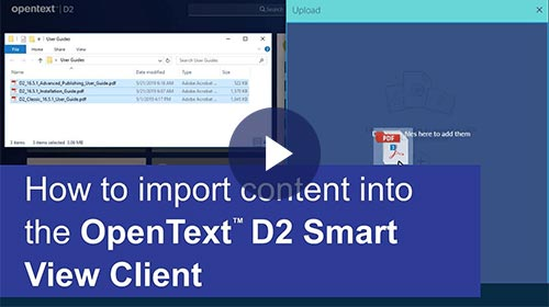 Add content in Documentum D2
