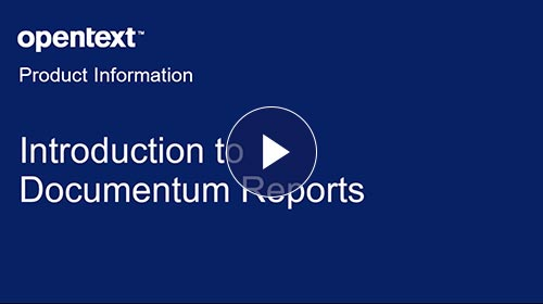 Introduction to Documentum Reports